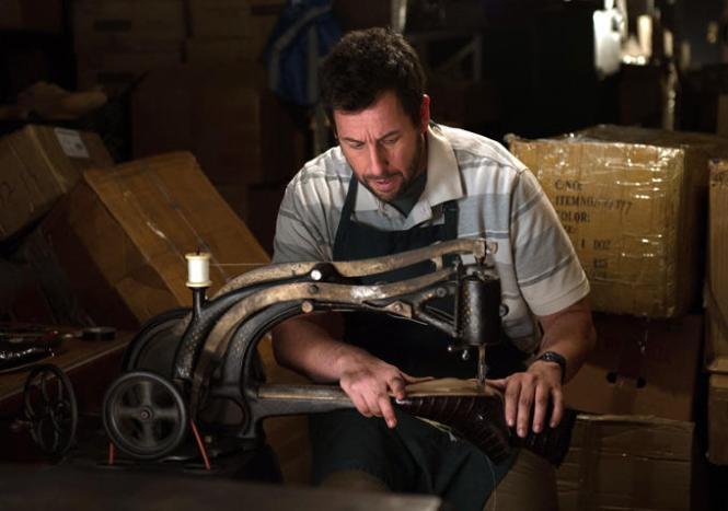 The cobbler, hard at work at his magical machine.