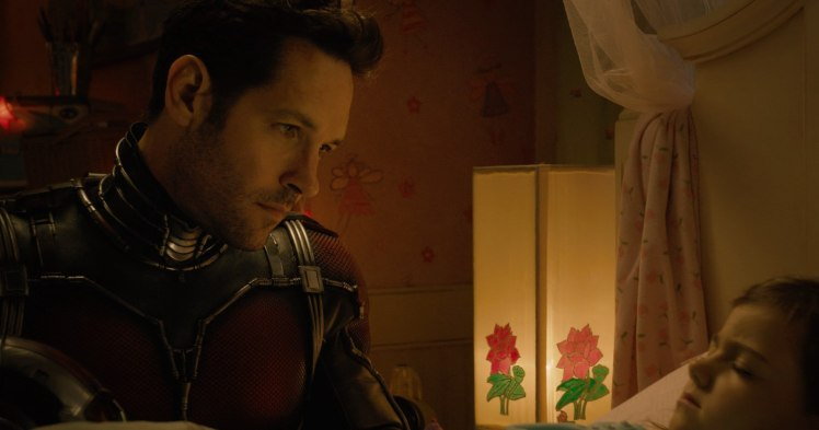 Scott Lang in a secretive moment with his daughter