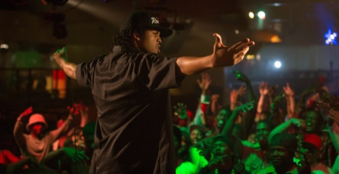 Ice Cube during one of N.W.A.'s early performances