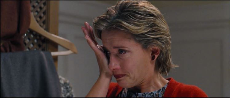 Emma Thompson as Karen, looking understandably heartbroken.