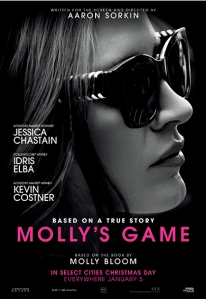Theatrical release poster for Molly's Game.